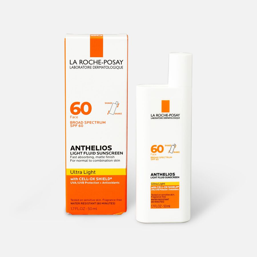 La Roche-Posay Anthelios Ultra Light Fluid Face Sunscreen Broad Spectrum SPF 60, 1.75oz, , large image number 0