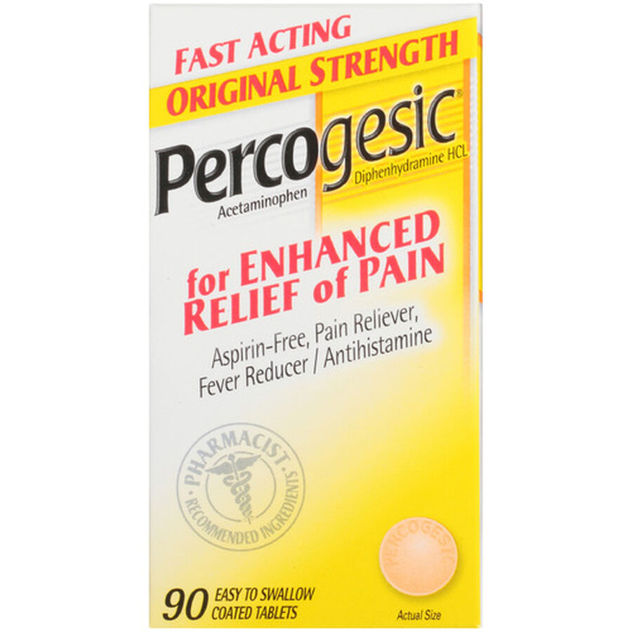 Percogesic, Original Strength, 90 count, , large image number 0