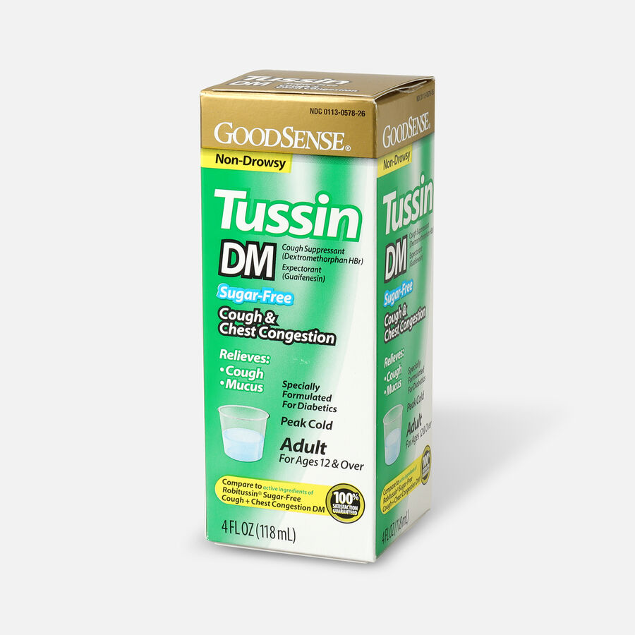 GoodSense® Tussin DM Cough Syrup 4 oz, Sugar and Alcohol-Free, , large image number 2