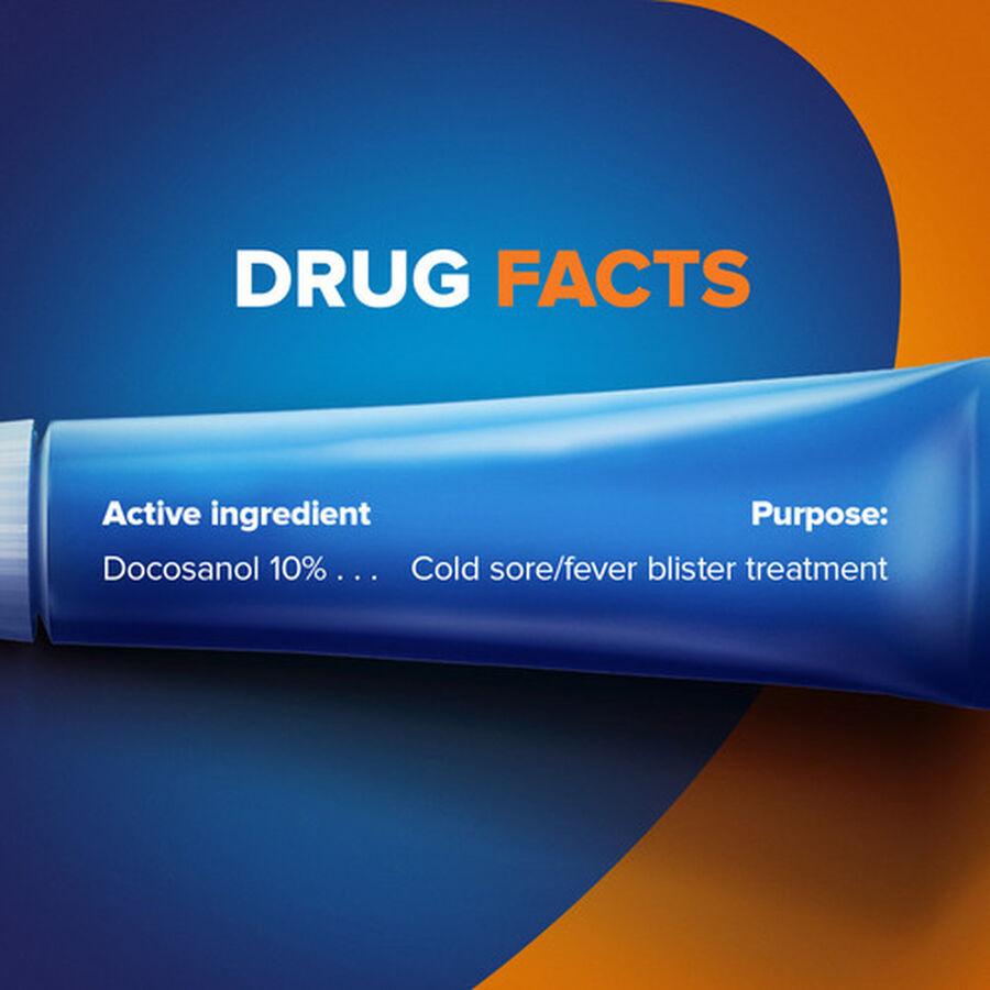 Abreva, Docosanol 10% Cream Tube, Treatment for Cold Sore/Fever Blister, 2g, , large image number 1