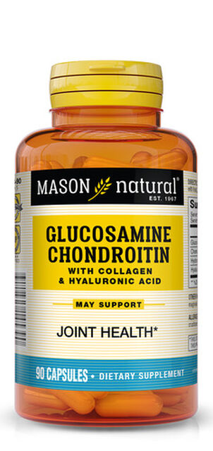 Mason Natural Glucosamine Chondroitin Advance with Collagen & Hyaluronic Acid, Capsules 90 ea