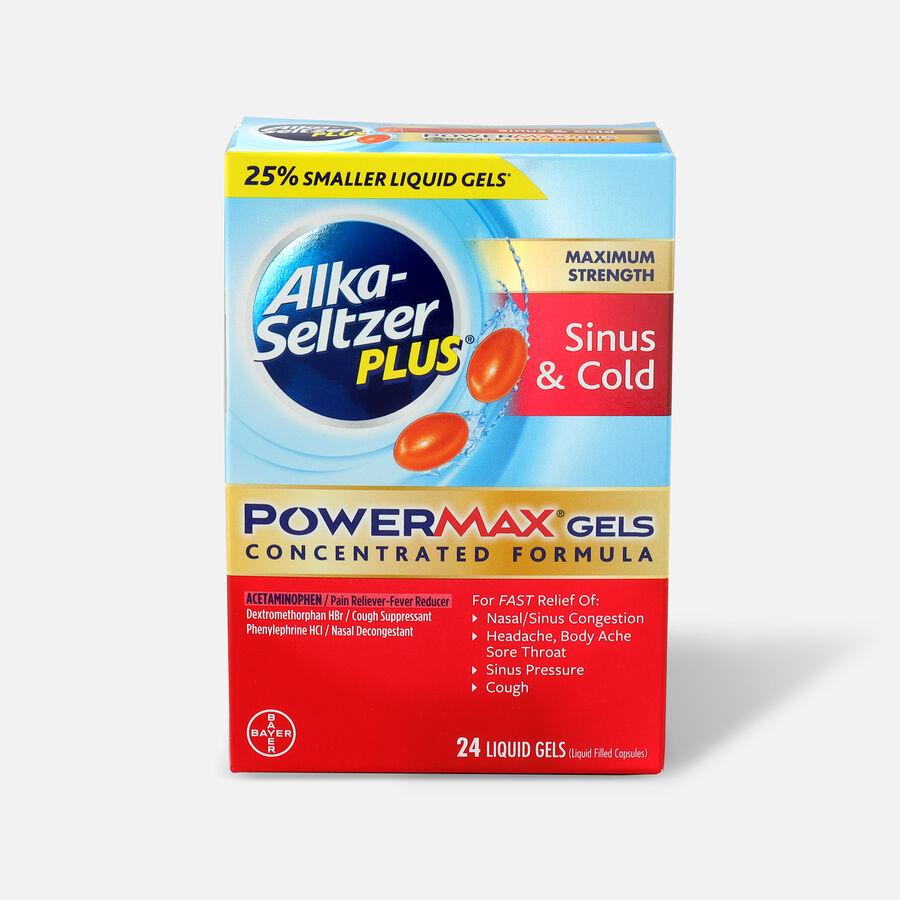 Alka-Seltzer Plus PowerMax Gels, Sinus & Cold, 24ct, , large image number 0