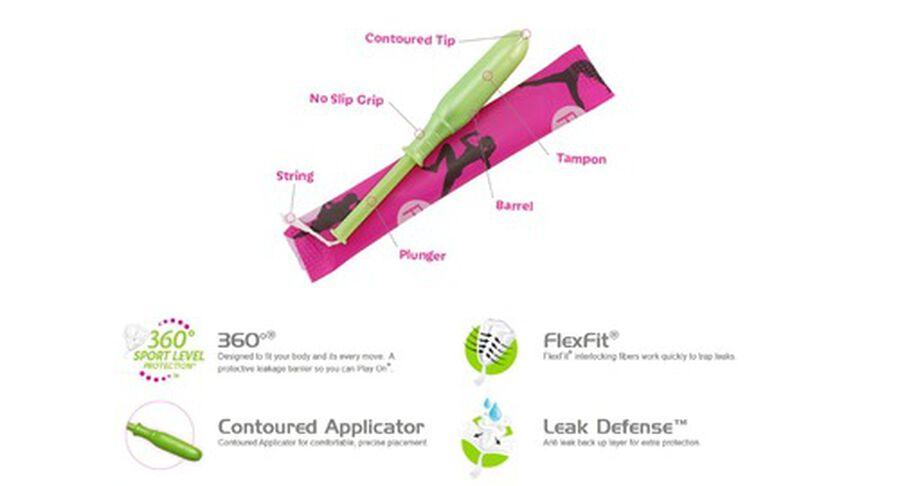 Playtex Sport Regular Tampons, Unscented, 36ct, , large image number 1