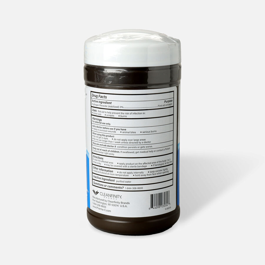 Pharma-C-Wipes™ 3% Hydrogen Peroxide First Aid Wipe, , large image number 1