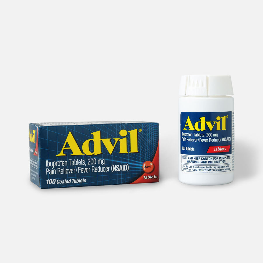 Advil Pain Reliever Fever Reducer Tablets, 100 ct, , large image number 0