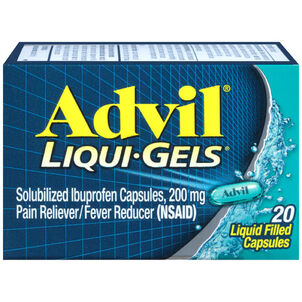 Advil Pain Reliever and Fever Reducer Liqui-Gels, 200mg