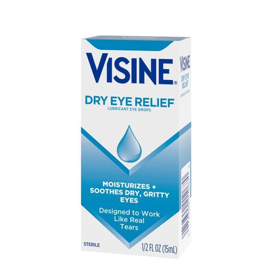 Visine Dry Eye Relief Lubricating Eye Drops for Dry Eyes, 0.5 fl. oz, , large image number 8