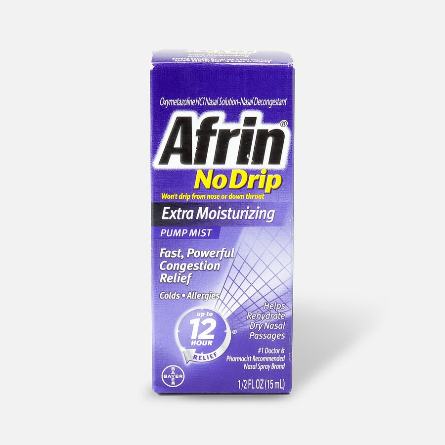 Afrin No Drip 12 Hour Pump Mist, Extra Moisturizing, .5 fl oz, , large image number 1