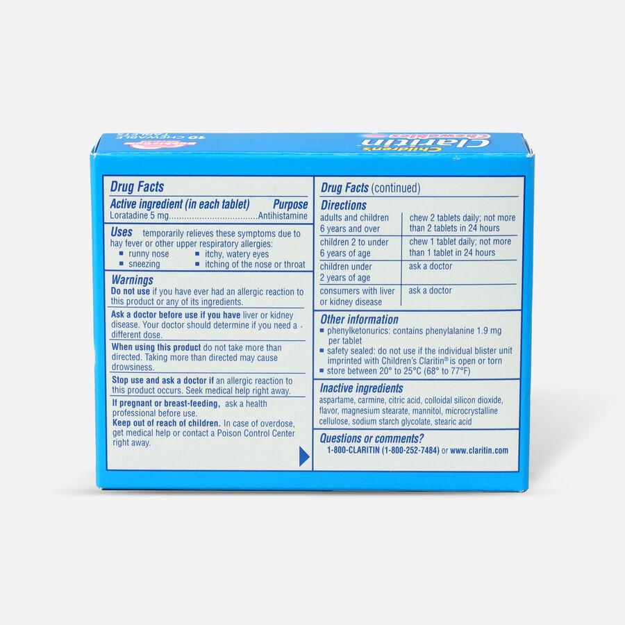 Claritin Children's Allergy Chewables, Bubblegum Flavor, 10 Count, , large image number 1