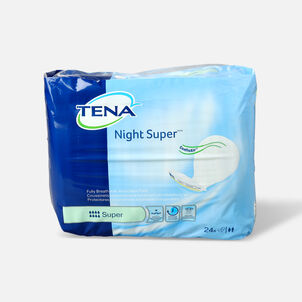 Tena Super Absorbency Night Pads, 24 ea