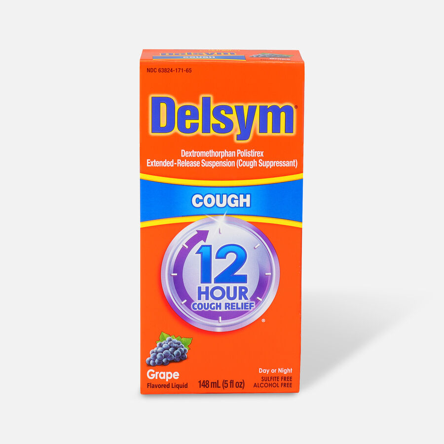 Delsym Adult Liquid, Grape, 5 oz, , large image number 0