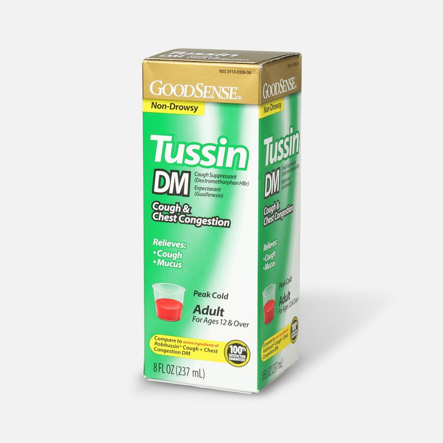 GoodSense® Tussin DM Cough Syrup 8 oz, For Children and Adults, , large image number 3