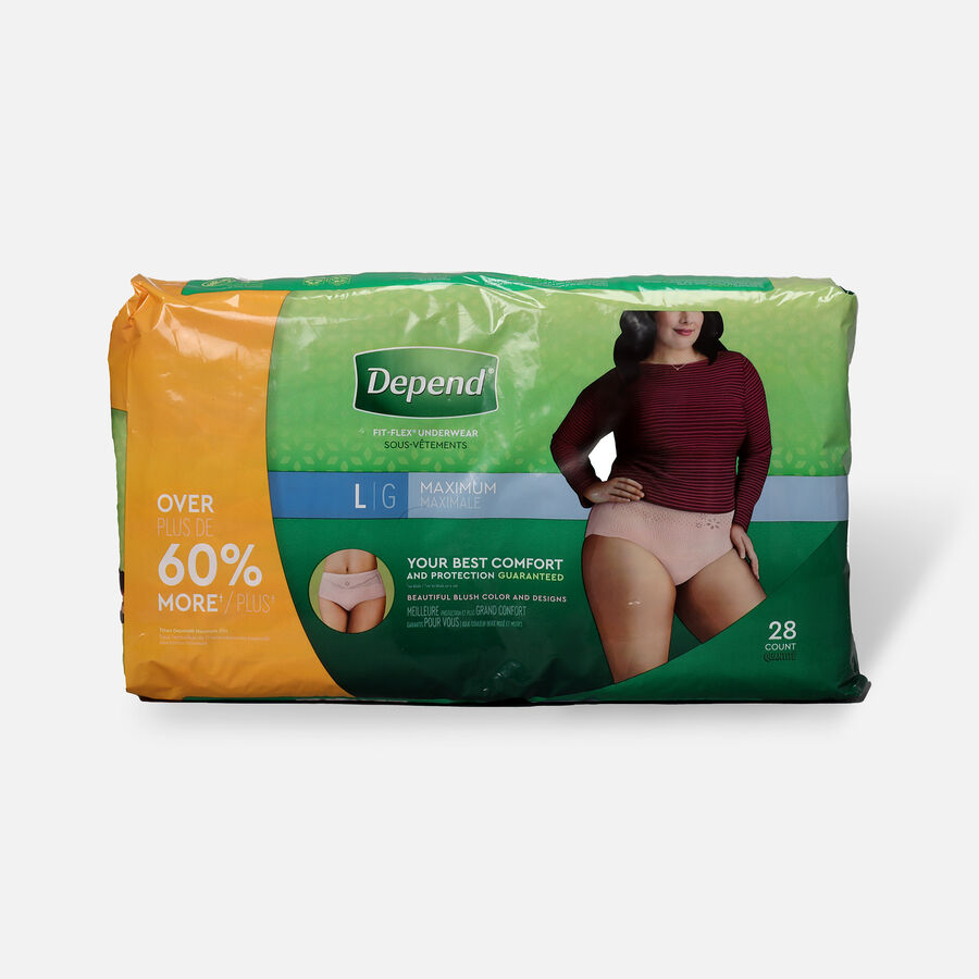 Depend FIT-FLEX Underwear, Maximum Absorbency, Large, 28 count, , large image number 0