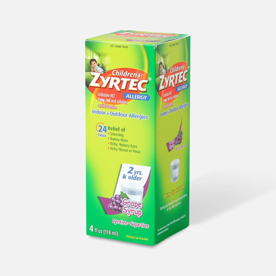 Children's Zyrtec 1mg Grape Syrup, 4 fl oz, , large image number 2