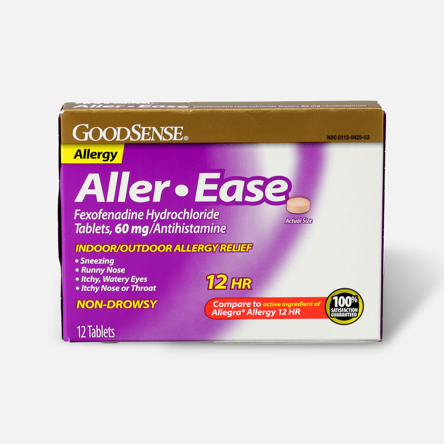 GoodSense® Aller-Ease 60 mg 12-Hour Non-Drowsy Tablets ,12 ct, , large image number 0