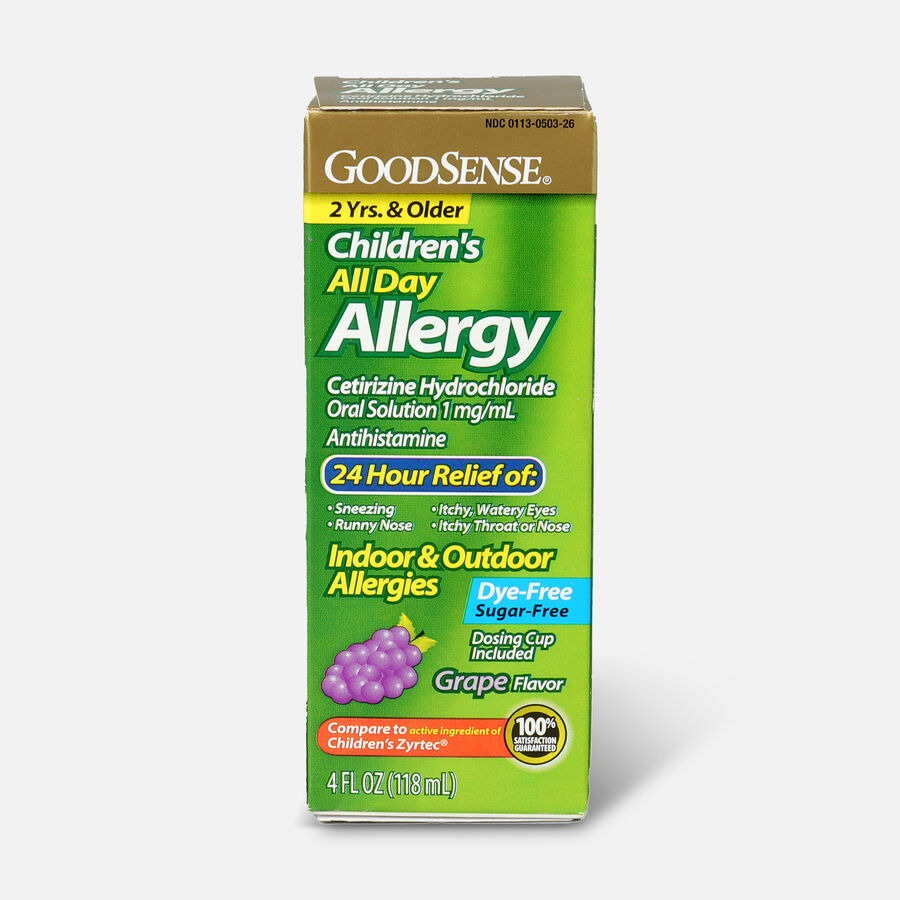 GoodSense® Child All Day Allergy Cetirizine 24-Hr Grape Flavor 4 fl oz, , large image number 0