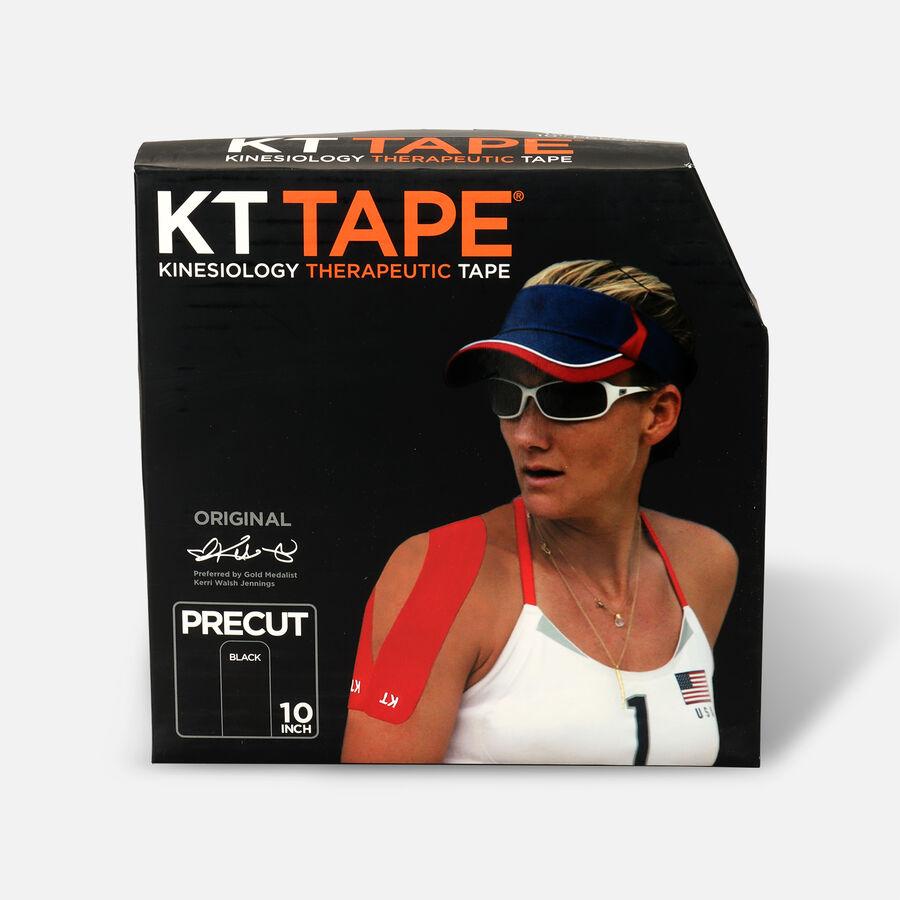 KT Tape Cotton Jumbo Precut Tape, Black, 150 Precut Strips, Black, large image number 0