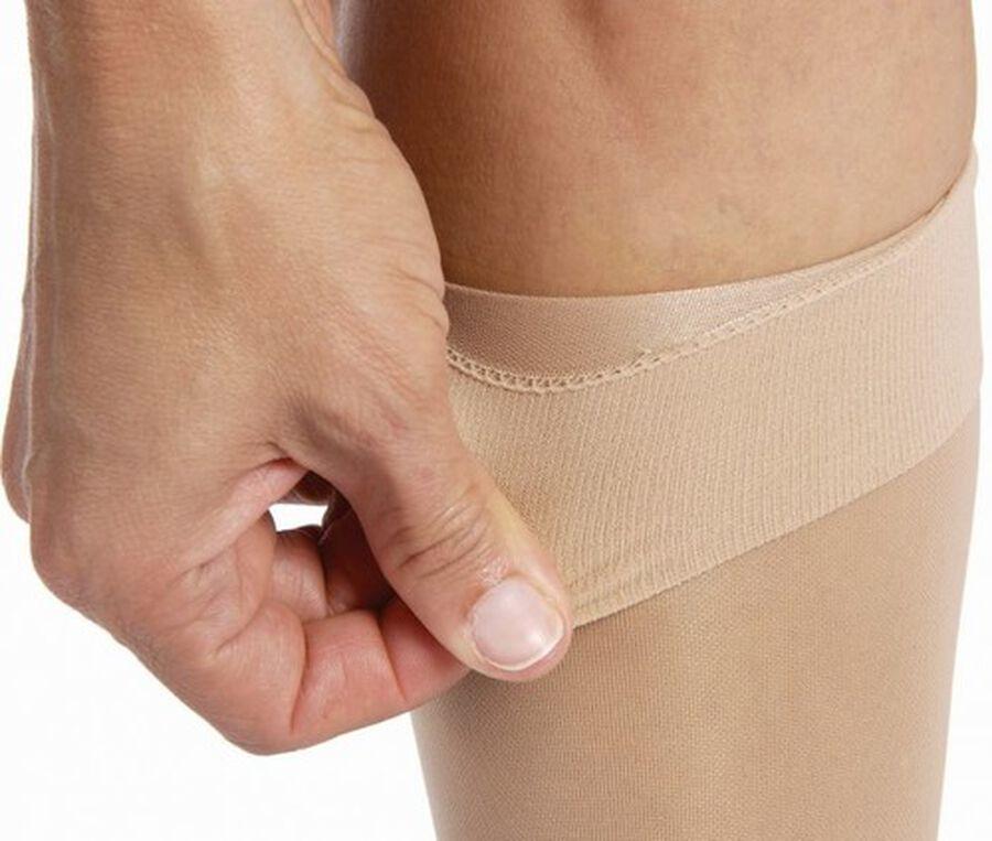 BSN Jobst Women's UltraSheer Knee-High Extra Firm Compression Stockings, Closed Toe, Medium, Suntan, , large image number 4