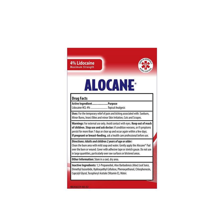 Alocane Maximum Strength Emergency Burn Pads, 10 ct, , large image number 2