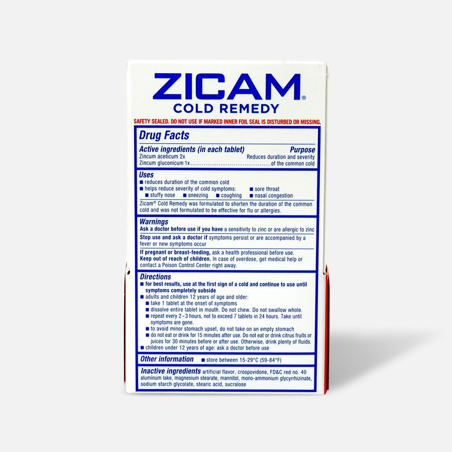 Zicam Cold Remedy Homeopathic Rapid Melts, Cherry, 25 ea, , large image number 1