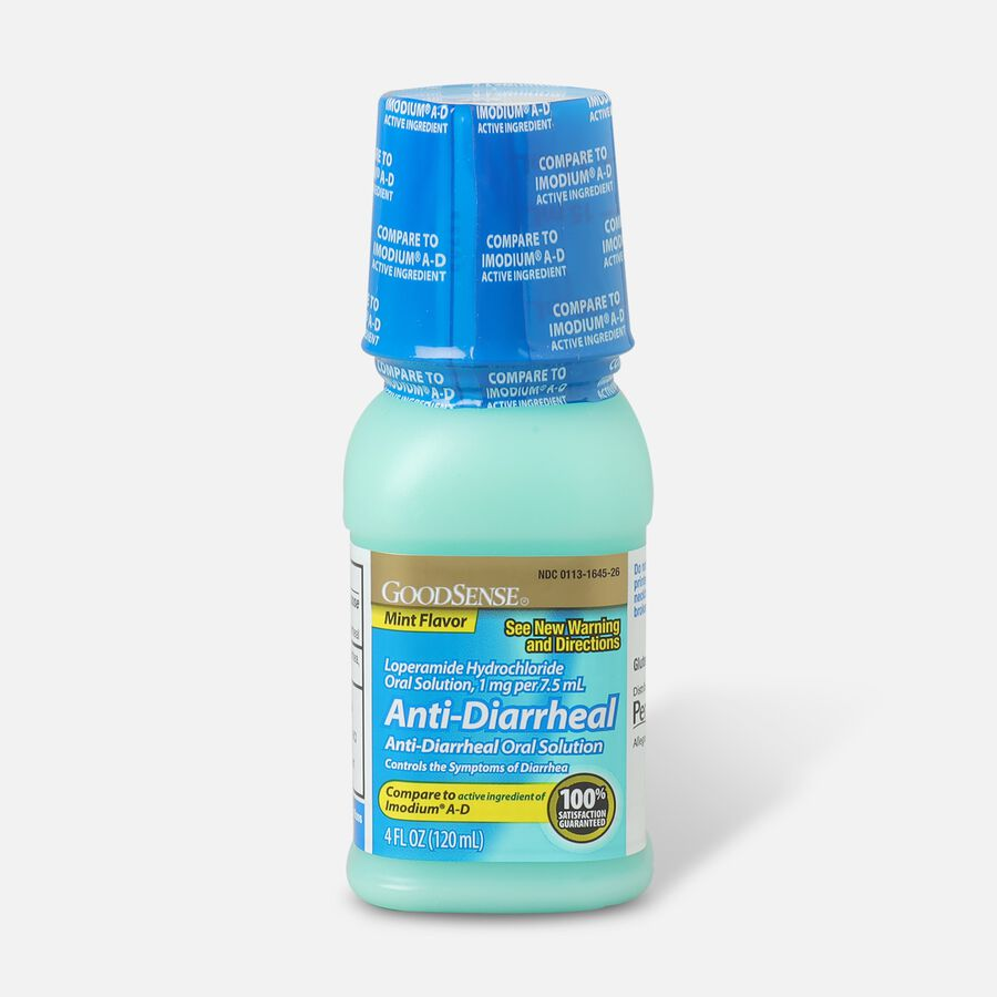 GoodSense® Anti-Diarrheal Loperamide Hydrochloride Oral Solution,1mg per 7.5mL, Mint, 4fl oz, , large image number 0