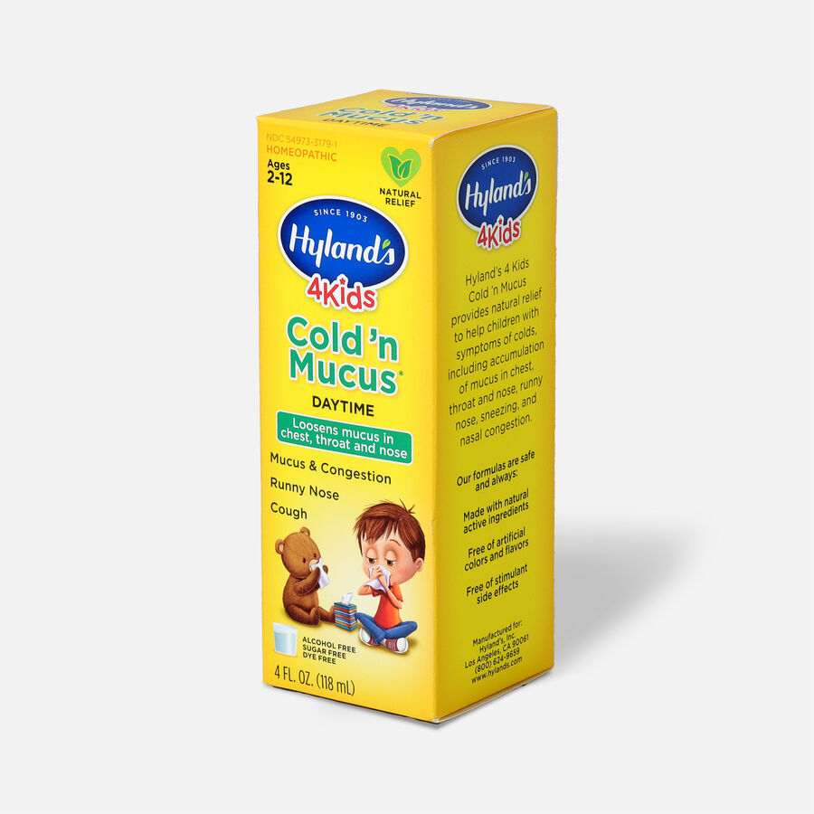 Hyland's 4 Kids Cold 'n Mucus, Daytime, 4 oz, , large image number 2