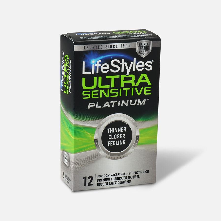 LifeStyles Ultra Sensitive Platinum Condoms, 12ct, , large image number 1