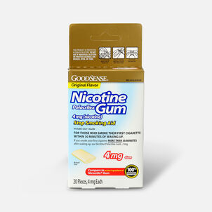 GoodSense® Nicotine Polacrilex Gum 4 mg Original Uncoated
