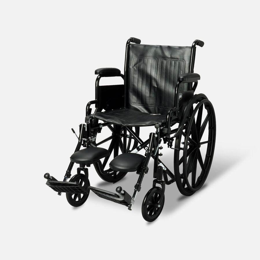 "ProBasics K1 Standard Wheelchair, Elevating Legrests, 18"" x 16"", , large image number 0"