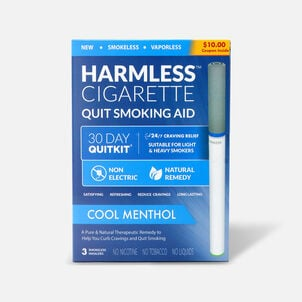 Harmless Cigarette Quit Smoking Aid, 30 Day Quit Kit, Cool Menthol
