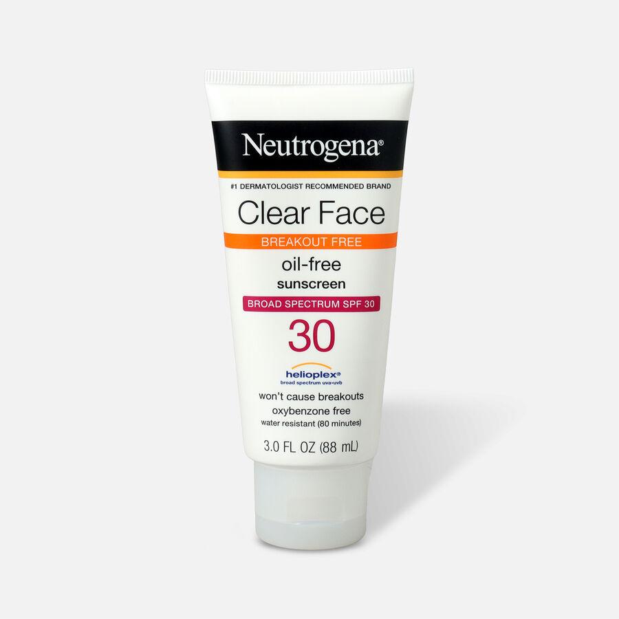 Neutrogena Clear Face Liquid Sunscreen Lotion SPF 30 - 3 fl oz, , large image number 0