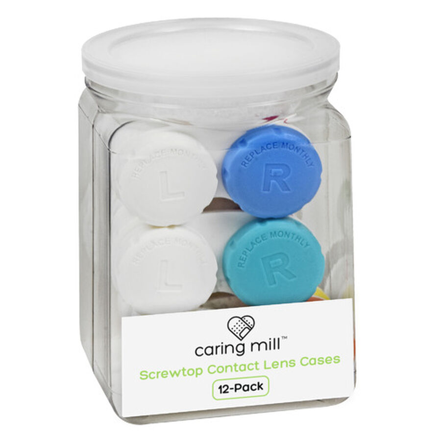 Caring Mill™ Tight-Top™  Contact Lens Cases, 12-Pack Jar, , large image number 0