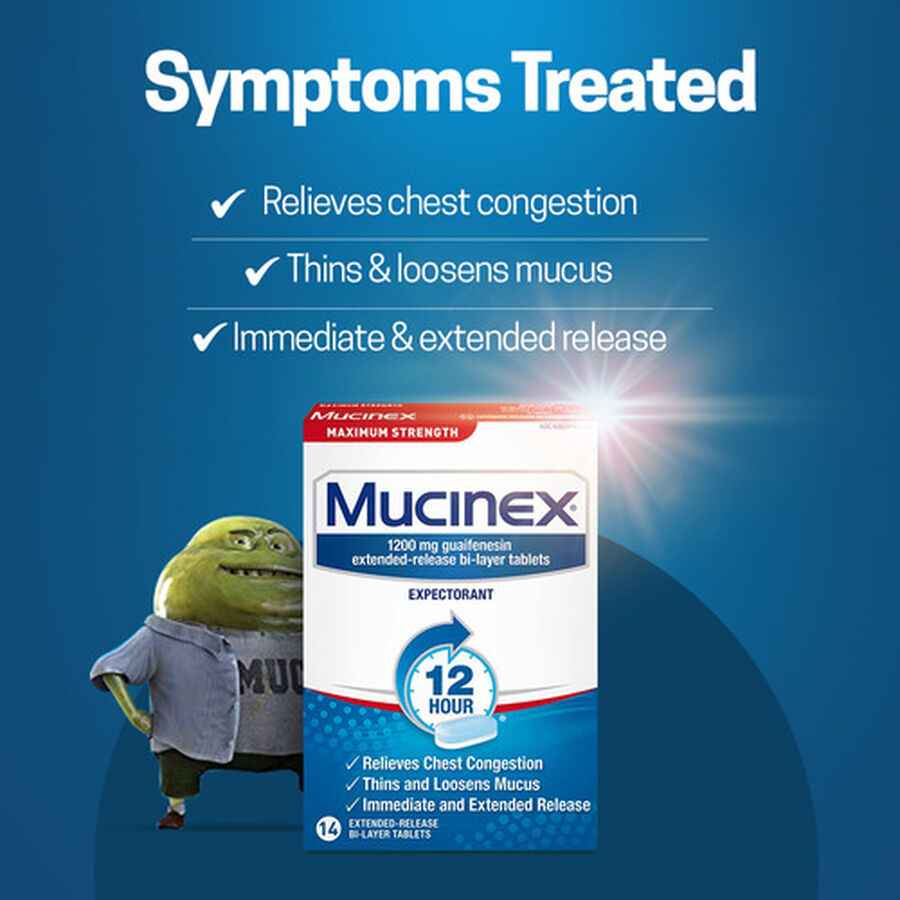 Mucinex SE Max Strength Extended Release Bi-Layer Tablets, 14 ct, , large image number 2