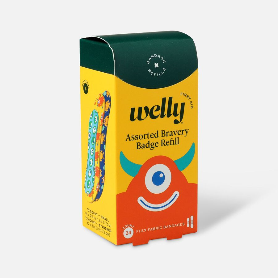Welly Bravery Badges Standard Flex Fabric Bandages Monster Refill - 24ct, , large image number 2