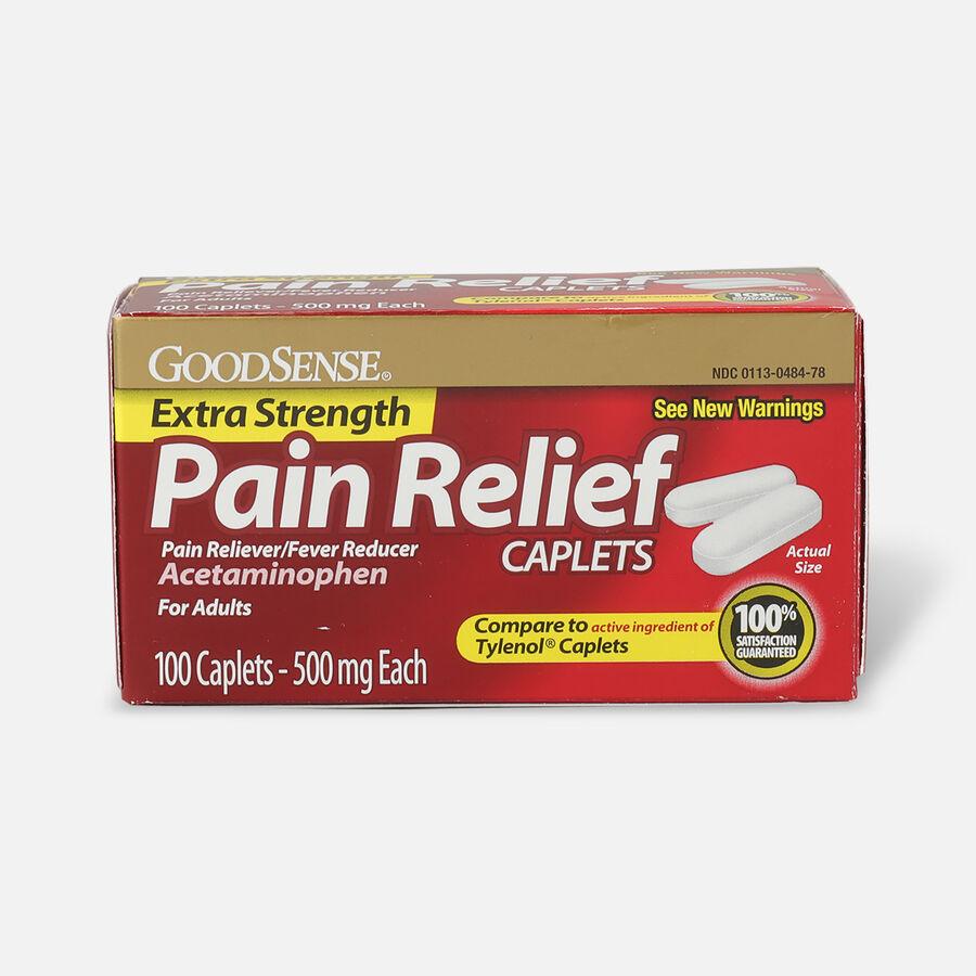 GoodSense® Extra Strength Acetaminophen 500 mg Caplets, 100 ct, , large image number 0