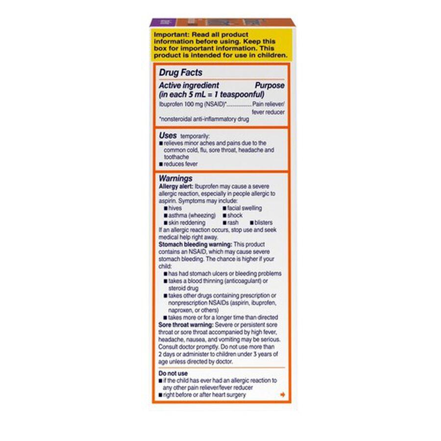 Children's Motrin Bubble Gum Flavor 4 fl oz, , large image number 4