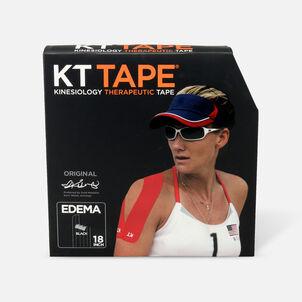 KT Tape Edema Strips, Black, Cotton Jumbo Pack, 83 Strips