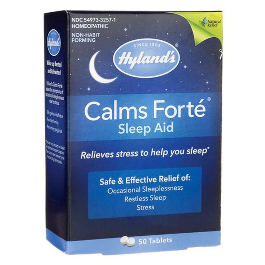 Hyland's Calms Forte Tablets, 50 ct, , large image number 0