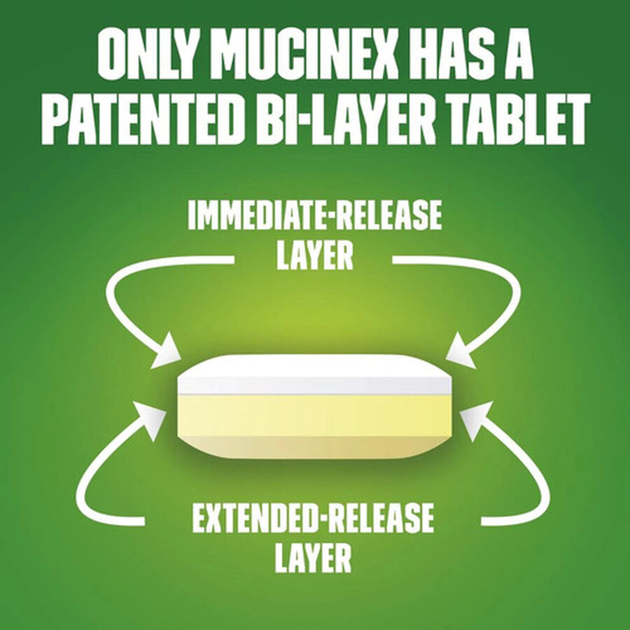 Mucinex Extended Release Bi-Layer Tablets, 20 ct, , large image number 4