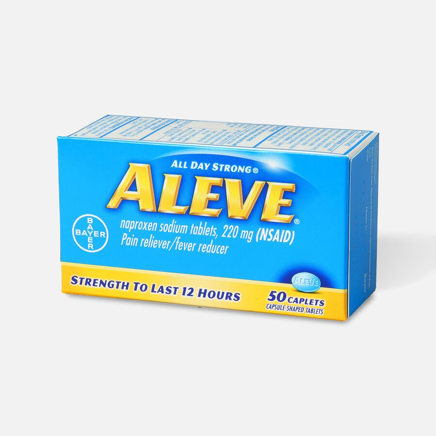 Aleve All Day Strong Pain Reliever, Fever Reducer, Caplet, 50 ea, , large image number 2