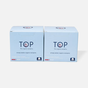 TOP the Organic Project Tampon Multipack with Plant Based Applicator, Super, 28 ct