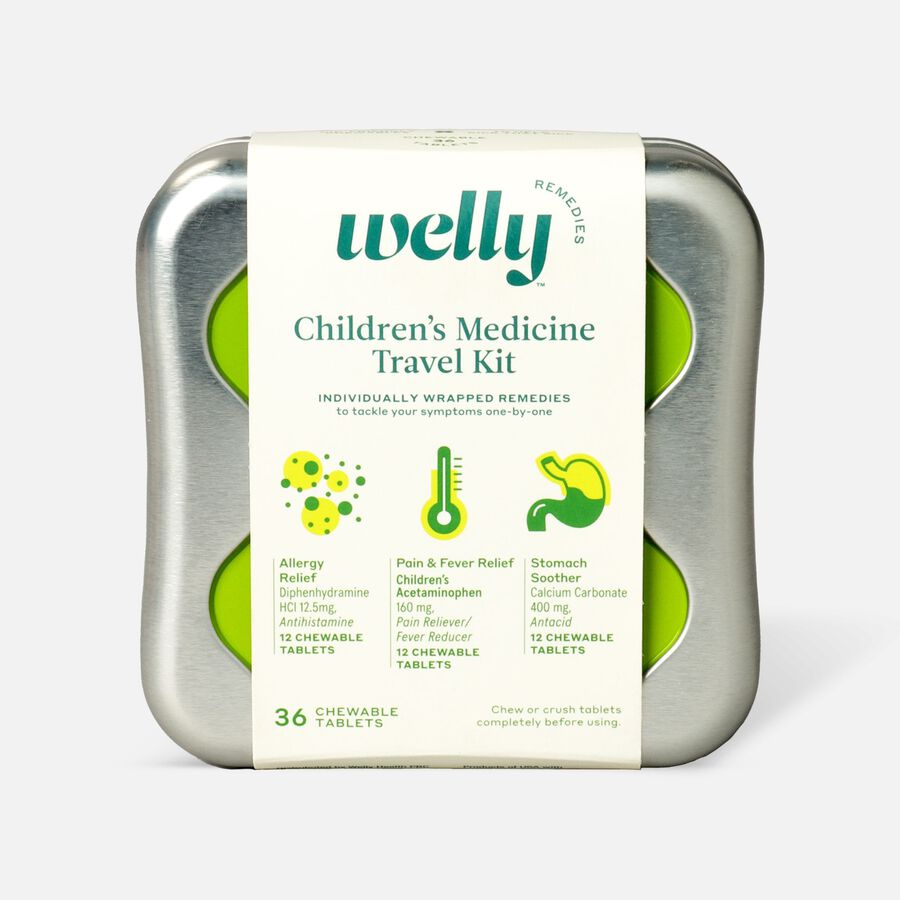 Welly Children's Medicine Travel Kit - 42ct, , large image number 0