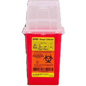"1.5 Qt Nestable Sharps Container, 9"" X 4.5"" X 4"", 1 ea"