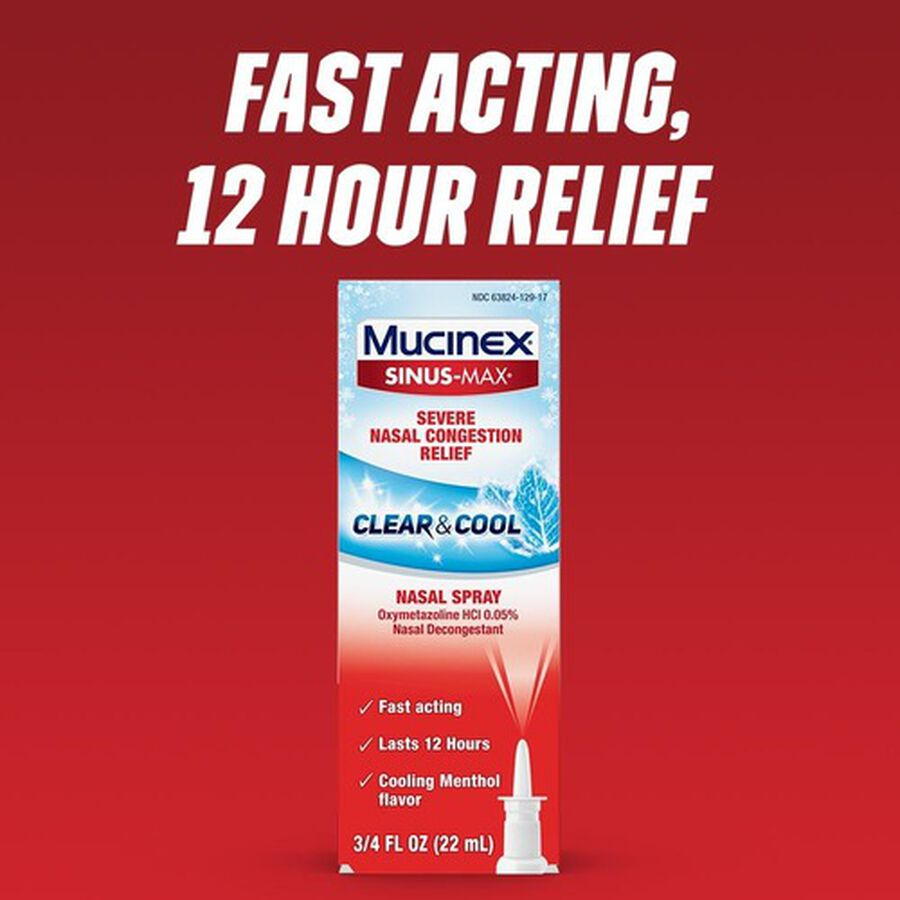 Mucinex Sinus-Max Nasal Spray Clear and Cool, .75 oz, , large image number 3