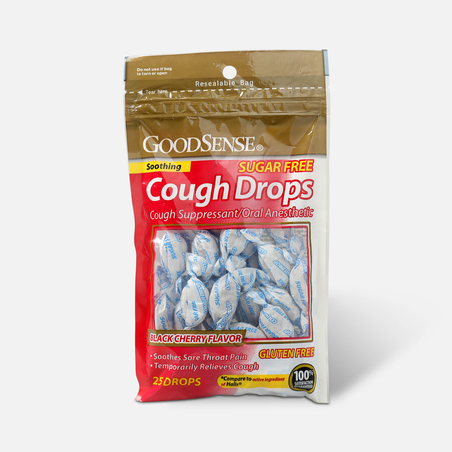 GoodSense® Cough Drops 25 Count, Black Cherry, Sugar-Free, , large image number 0
