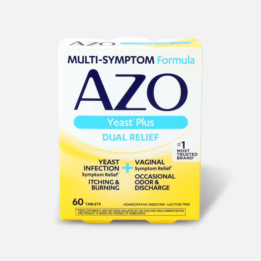 AZO Yeast, Natural Symptom Prevention & Relief, 400mg, Tablets, 60 ea, , large image number 0