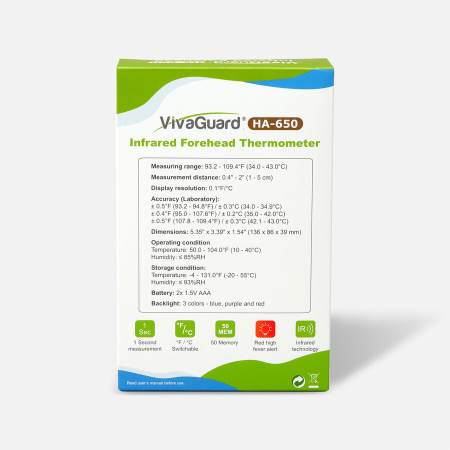 VivaGuard Infrared Forehead Thermometer, , large image number 2