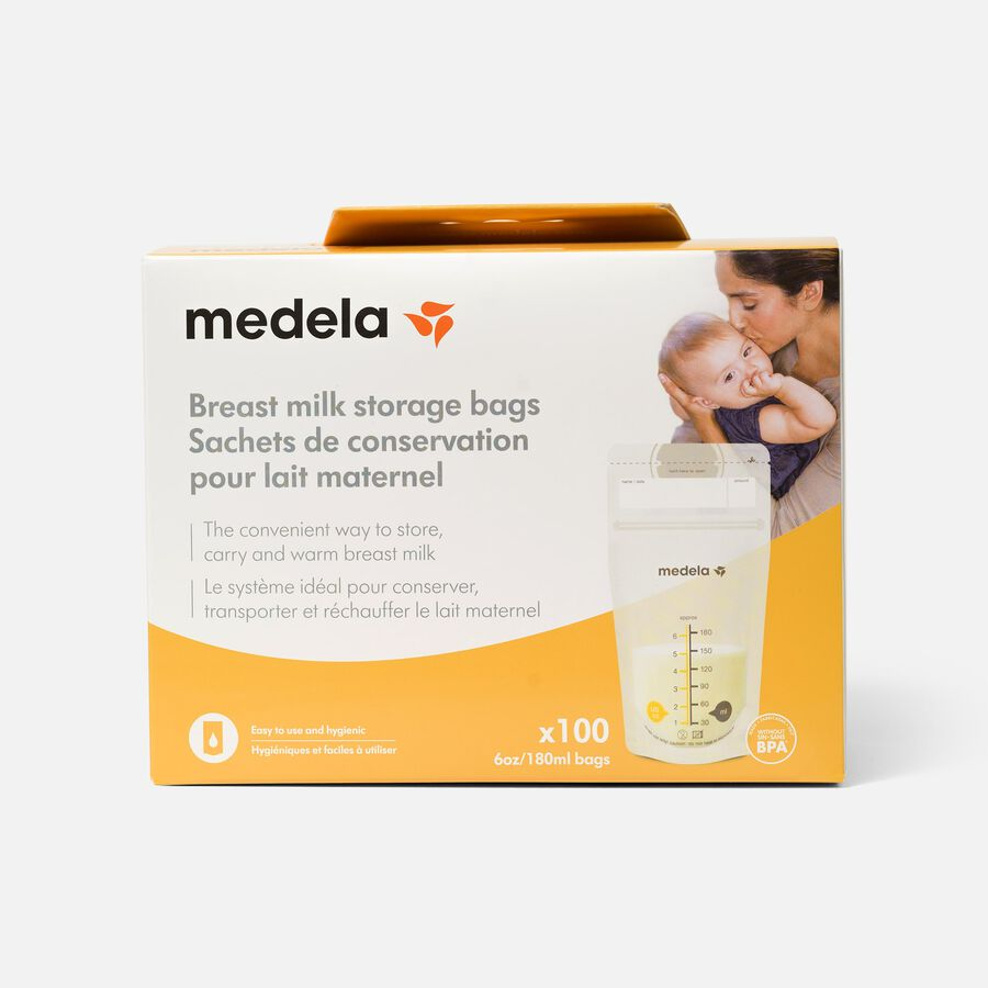 Medela Breast Milk 6oz Storage Bags, 100 count, , large image number 0