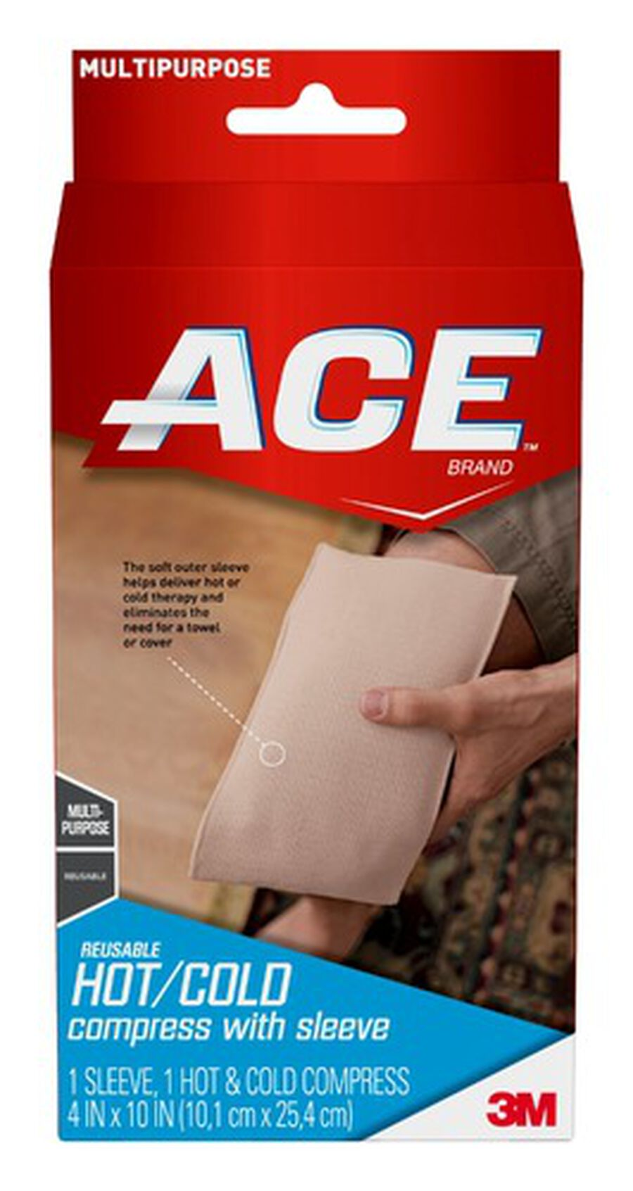 ACE Hot and Cold Compress, Reusable, 1 ea, , large image number 0