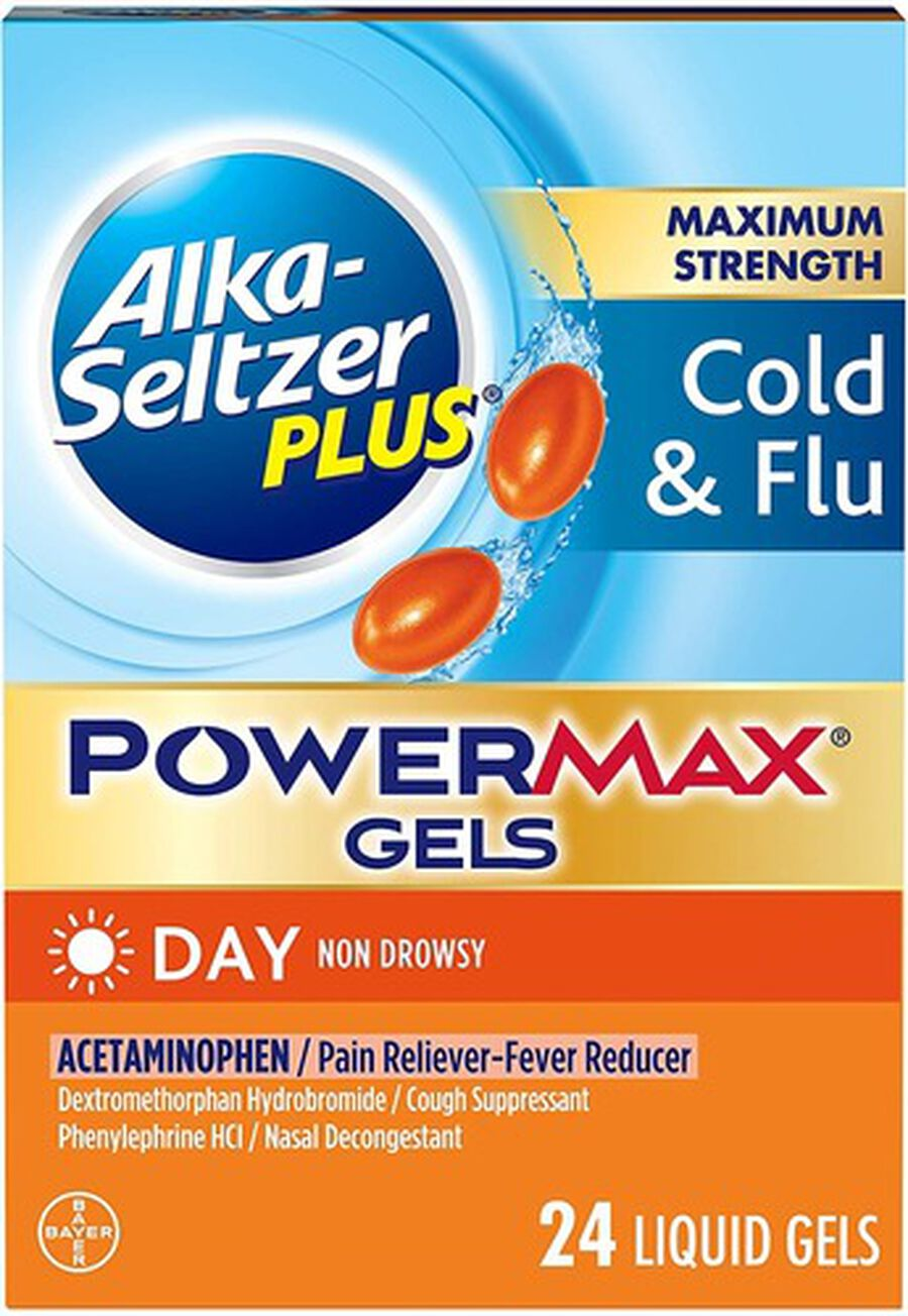 Alka-Seltzer Plus Cold & Flu PowerMax Gels, Day, 24ct, , large image number 3